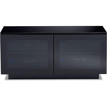 BDI Furniture 8224 Mirage Double Wide Media Cabinet, Black