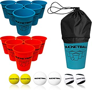 Bucket Ball - Beach Edition - Ultimate Beach, Pool, Yard, Camping, Tailgate, BBQ, Backyard, Lawn, Water, Wedding, Events, Indoor, Outdoor Game - Best Gift Toy for Boys, Girls, Teens, Adults, Family