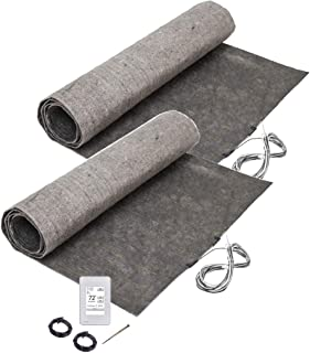 72 sq. ft. ThermoFloor Laminate Floor Heating Kit: (2) 3x12 ft. mat, (1) UWG4-4999 WiFi Touch Screen Thermostat
