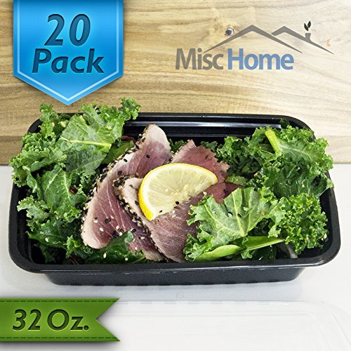 Learn More About [20 Pack] 32 Oz. Meal Prep Containers BPA Free Portion Control Bento Boxes