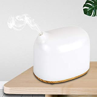 300ml Essential Oil Diffuser, Two Block Fog Volume Design Aromatherapy Diffuser, Waterless Shut Off Ultrasonic Aroma Humidifier with Night Light, Ideals for Bedroom, Office and Hotel