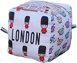 London City Block | Organic Toy |Soft Cotton | Best Toy of the Year | Handmade in Brooklyn | Jingle Column | Rattle | Baby Blocks