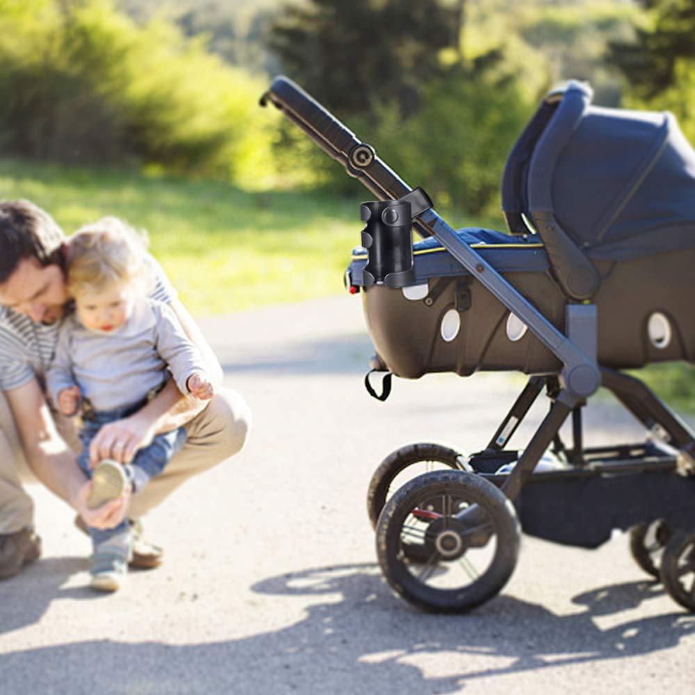 Walker Universal Getr/änkehalter Rollstuhl Spurtar Kinderwagen Getr/änkehalter 360 Grad Rotation Getr/änkehalter f/ür Kinderwagen Schwarz Fahrrad Getr/änkehalter Trolleys Rollator