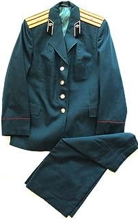 Soviet USSR Original Army Female Major of Military Railroad Uniform 1990; Rare Turquoise