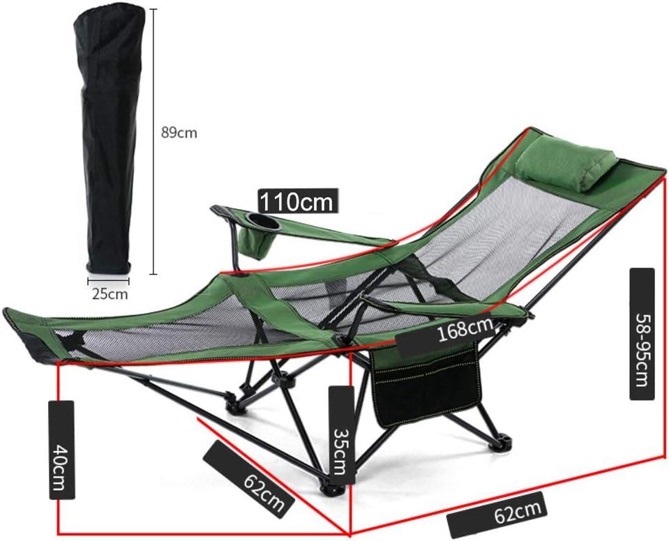 TriGold Pliable Chaise De Camping avec Repose-Pied,Portable Inclinable Chaise Longue avec Porte-gobelet,Confortable Chaise pour Picnic Office Nap E