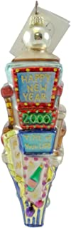 Christopher Radko TIMES SQUARE/ COUNT DOWN Glass Ornament New Years 2000