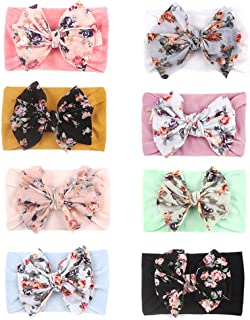 8 Pcs Baby Nylon Headbands Stretch Printing Bow Hairband Set Girls Multicolor Hairband Hair Accessories Photography Props ...