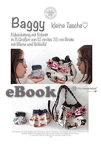 Baggy Nähanleitung mit Schnittmuster für kleine Tasche in 8 Größen [Download]