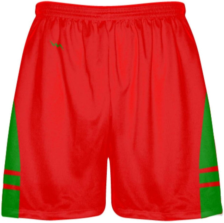 LightningWear Red Kelly Green Lax ShortsPockets Lacrosse ShortsBoys Mens Shorts