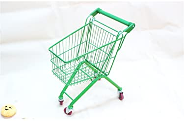 Hand Truck/Children's Shopping Cart Household Trolley Supermarket Trolley Toy Color Girl Boy Playing House Car Red/yellow/green/blue Four Colors Optional Load 30 Kg (Color : Green)