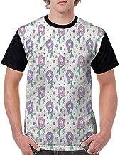 Unisex T-Shirt,Magic Aqua Sea Lily Fashion Personality Customization