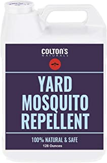 Colton`s Naturals - Mosquito Repellent for Yard - Repellent Outdoor Yard Spray for Home, Lawn, Patio, Garden - Yard Perimeter Outdoor Concentrate Spray Barrier- Naturally Safe for Kids & Pets 128oz