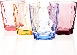 Vasos de plástico acrílico irrompibles para niños, apilables, para picnic, camping, playa, fiesta 4 Color1