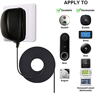 24 Volt Transformer, C - Wire Adapter Thermostat, Compatible with Nest,Honeywell,and Ecobee Smart Wifi Thermostat, Nest Hello Ring Vedio Doorbell(Black)