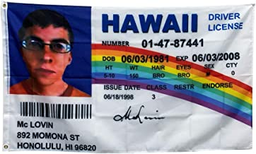 Mclovin Superbad Hawaii Drivers License Christmas Tree Ornament//Magnet//DHM//Wall