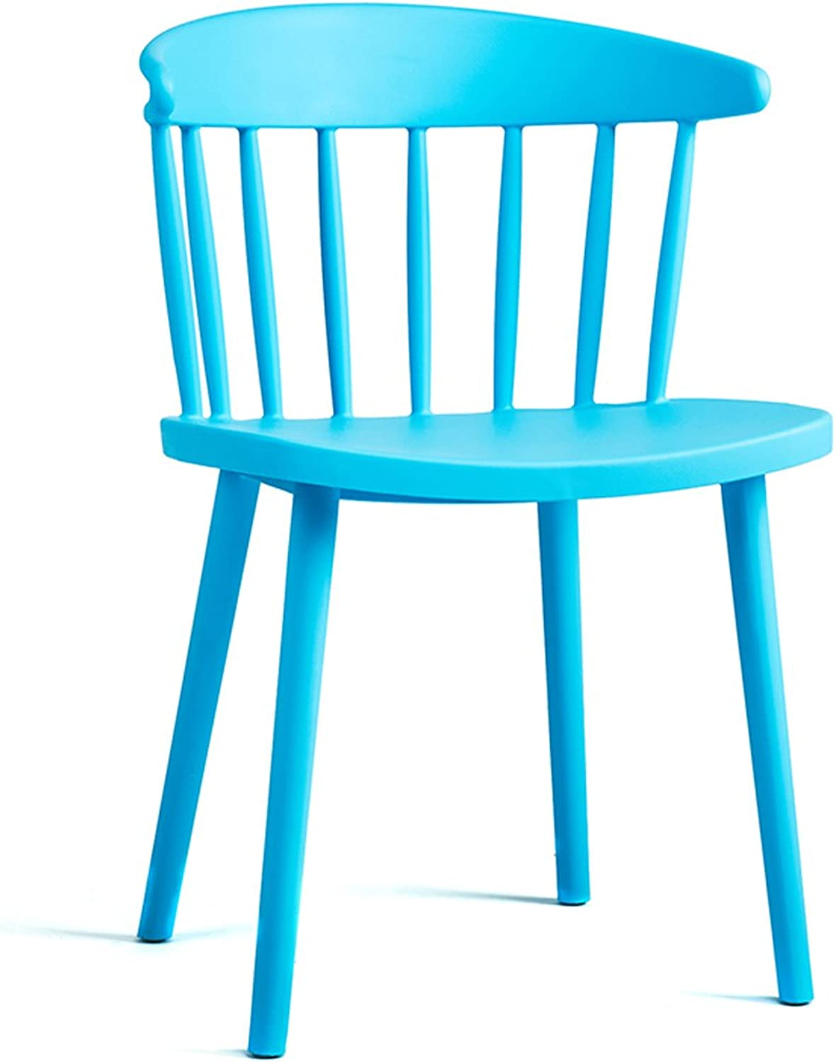 LRW Modern Leisure Chair, Home Plastic Backrest, Nordic Chair, Milk Tea Shop Chair (color   Light bluee)