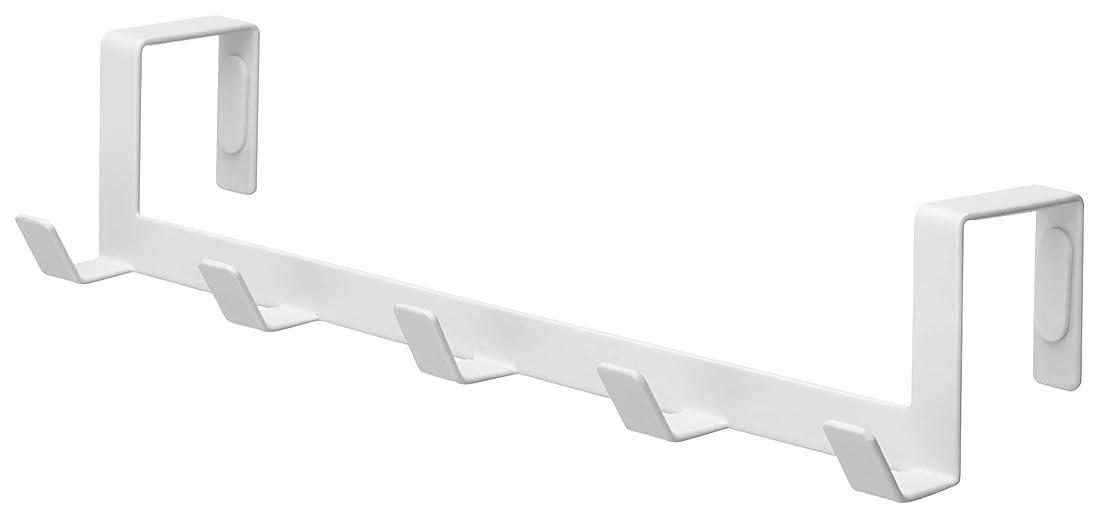 脚枠幸運な山崎実業 ドアハンガー ワイド ホワイト 約W30×D7×H6cm スマート 7649