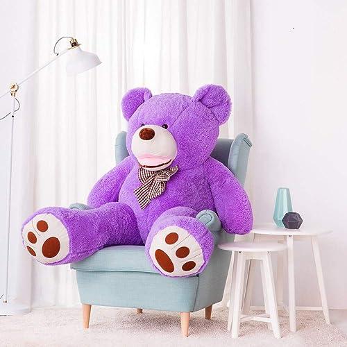 comprar barato Peluche XXL XXL XXL de osito de peluche, osito de peluche, oso de peluche Amigo, 160 cm, Color púrpura  en linea