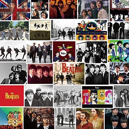 XXCKA 30 Pegatinas de los Beatles, Cuaderno de Realidad de Estrellas Europeas y Americanas, Impermeable, Creativo, Decorativo, Pegatina de Graffiti, Bolsa