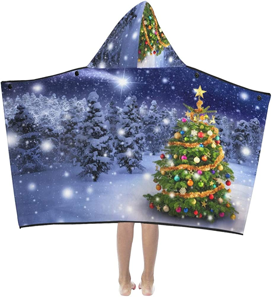 WBSNDB Boys Hooded Ranking TOP7 Blanket Magnificent New product!! Tree Christmas O Colorful