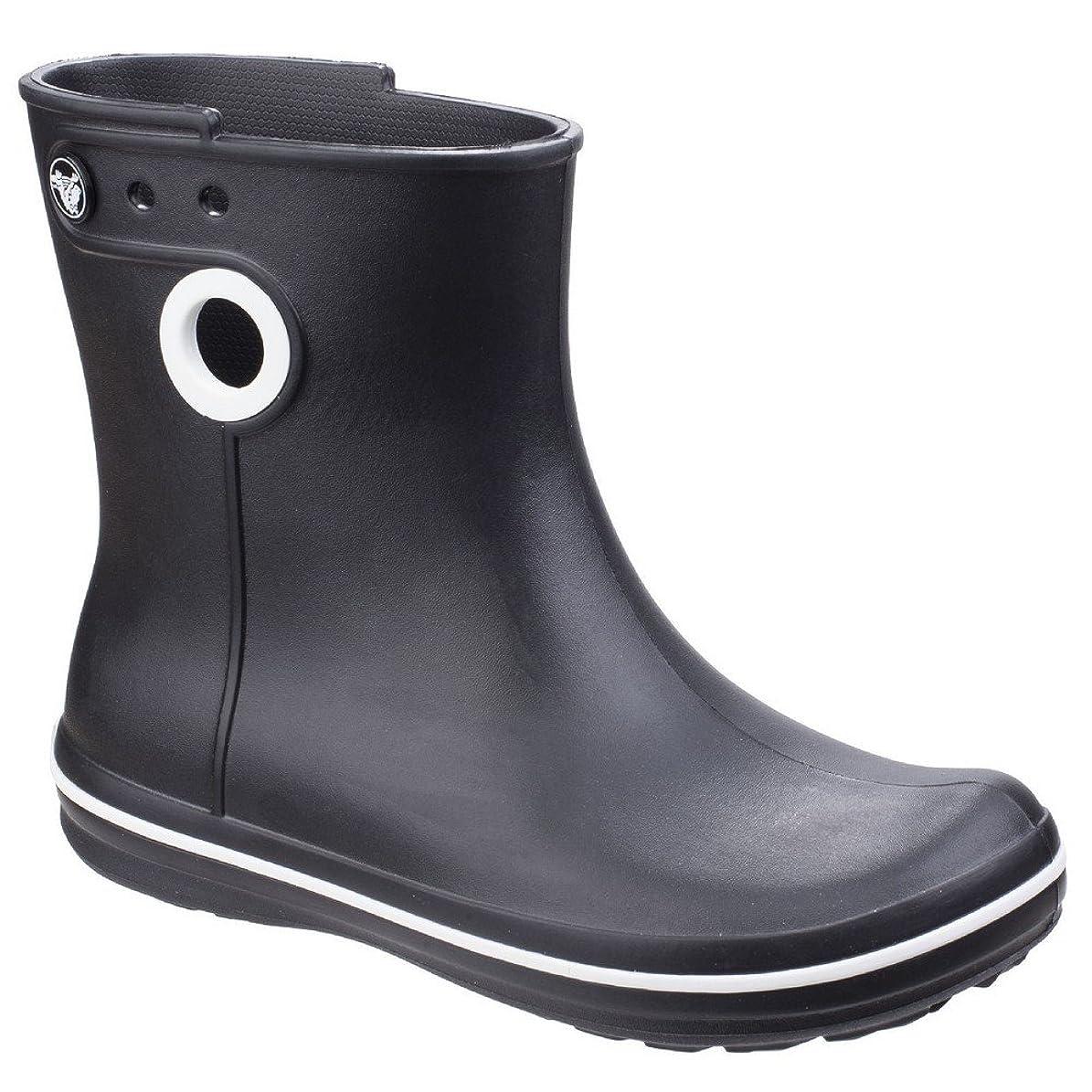 失われた休眠猫背[Crocs] (クロックス) レディース Jaunt ショート丈 ブーツ 長靴 婦人靴 レインブーツ 女性用 (5 UK) (ブラック)