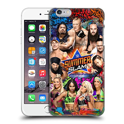 Head Case Designs Officially Licensed WWE Group 2017 SummerSlam Hard Back Case Compatible with Apple iPhone 6 Plus/iPhone 6s Plus