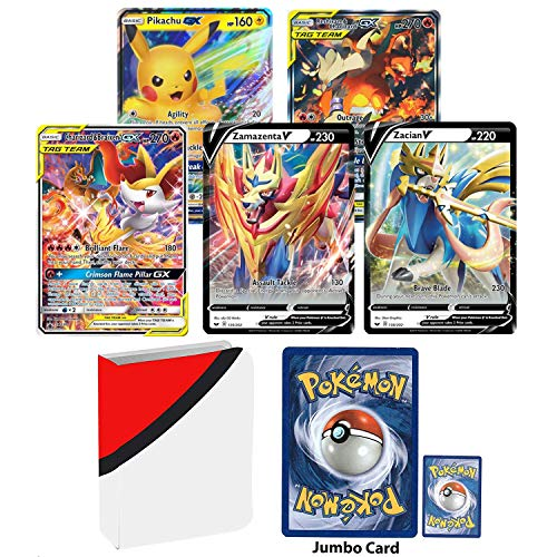 Totem World 10 Oversized Jumbo Pokemon Cards with Totem Inspired Jumbo Poke Ball Binder Collectors Album
