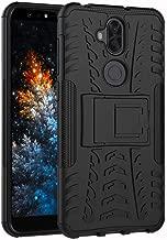 ZenFone 5Q ZC600KL Case, Tyre Pattern Design Heavy Duty Tough Armor Extreme Protection Case with Kickstand Shock Absorbing Detachable 2 in 1 Case Cover for ZenFone 5Q / ZenFone 5 Lite. Hyun Black