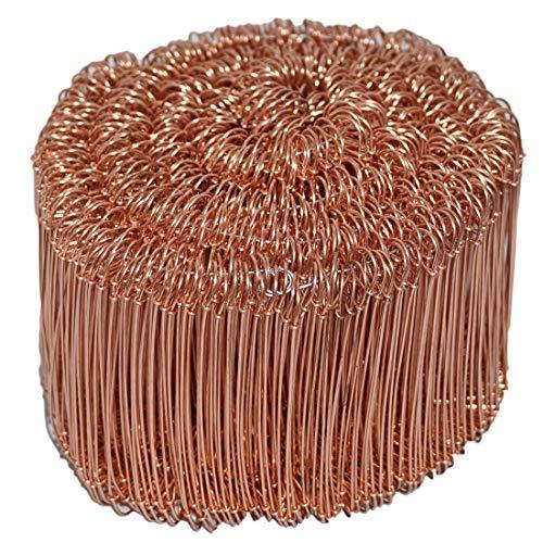 Novatool Drahtsackverschluss 1000 Stück 1,0 x 120mm Verkupfert Rödeldraht Verschlussdraht Bindedraht Sackverschlüsse