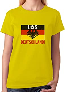 Tstars - Los Deutschland! Go Germany! Soccer Team Fans Women T-Shirt