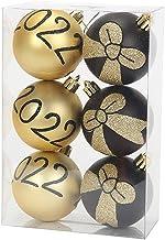 Ydh 6 Stks/Doos 6 cm Kerstbal Ornamenten Kerstboom Decoraties Hangende Hanger voor Vakantie Bruiloft Party Decor