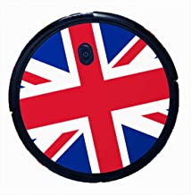 Bling Decal Stickers for Eufy Boost IQ RoboVac 11S (Slim) Vacuum - Easy to Apply (British Flag)