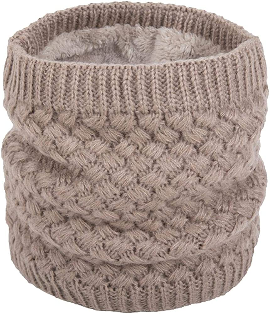 Unisex Winter Knitted Ring Scarves Mufflers Neck Warmer Plush Scarf