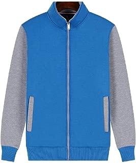 RkYAO Men's Zipper Raglan Sleeve Pocketed Pullover Top Sweatshirt