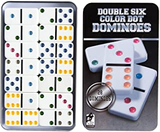 AOQING Dominos Set, Double 6 Color Dot Dominoes,Set of 28 Dominos Game