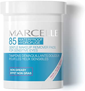 Marcelle Gentle Eye Makeup Remover Pads, Hypoallergenic and Fragrance-Free, 85 pads