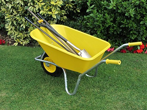 Bristol Big Mucker 100 Litre Yellow Plastic Garden/Stable Wheelbarrow / 120 kg