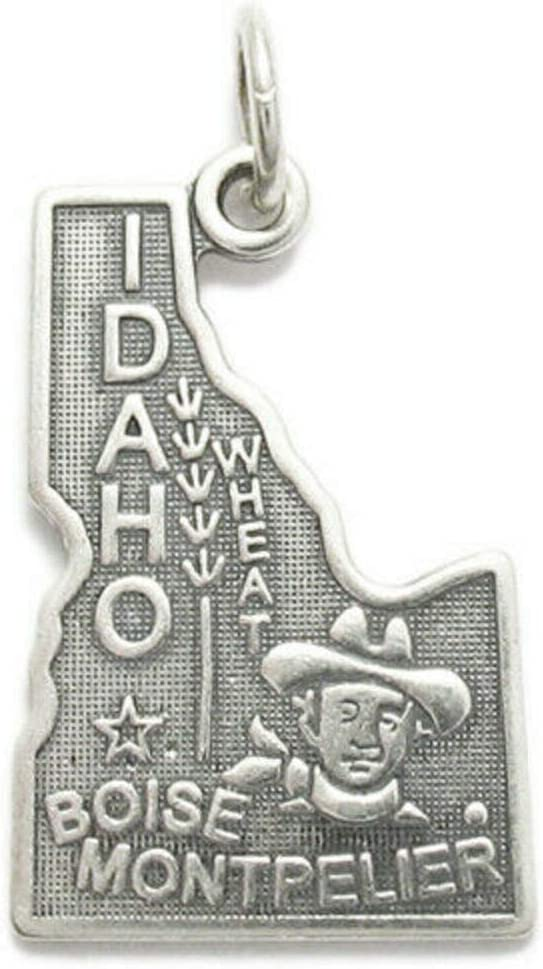 Charm - Sterling 5% OFF Silver Colorado Springs Mall Jewelry Pendant State Idaho