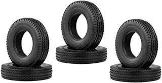 Baosity 6pcs Anti-Skid Rubber Tires Tyres Wheels for 1/14 RC Car Accessory