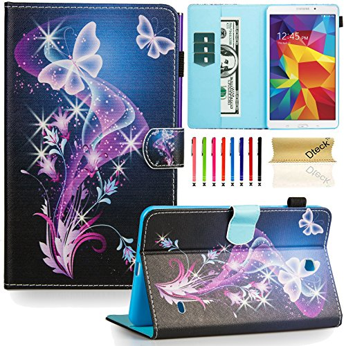 Tab 4 8.0 inch case,T330 case, Dteck(TM) Flip Stand PU Leather Case with Cards/Money Slots [Auto...