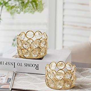 CraftVatika Crystal Tea Light Candle Holder for Home Decoration Tealight Candle Holders Stand for Home Living Room Bedroom...