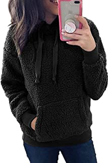 CILKOO Womens Cozy Oversize Fluffy Fleece Zip Up Sweatshirt Pullovers Outwear(S-XXL)