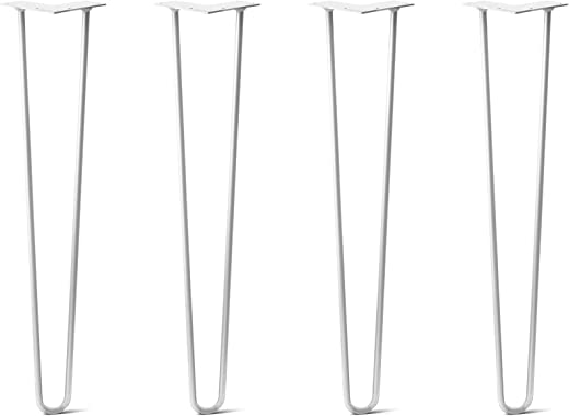 ✅Hairpin Legs Set of 4 – Cold Rolled Steel – Raw and Color Available – Made in The USA (28″ Tall, Heavy Duty 1/2″ Diameter – White – Shipped as Set of 4 Legs) #Tools & Home Improvement Hardware