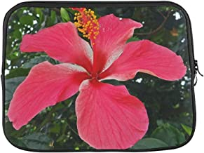 Design Custom Hibiscus India Floral Plant Natural Blossom Bloom Sleeve Soft Laptop Case Bag Pouch Skin for MacBook Air 11