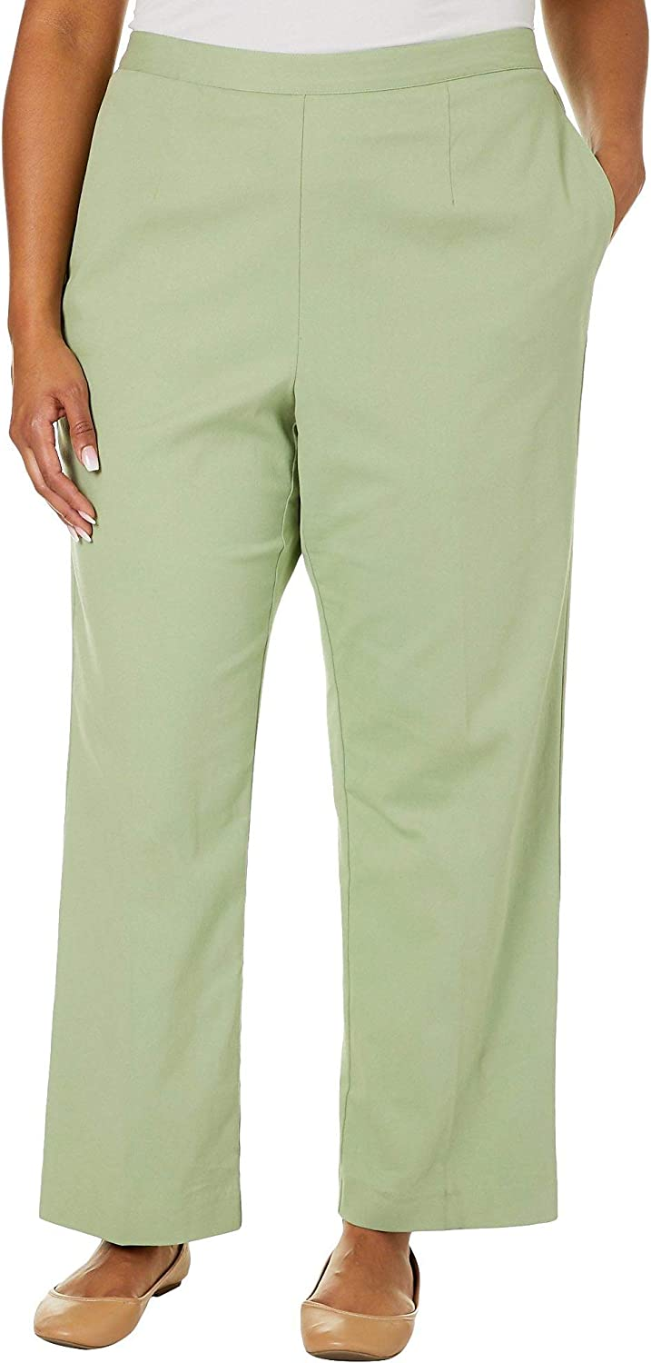 Alfred Dunner Plus Greenwich Hills Twill Proportioned Pants