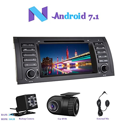 Android 7.1 Autoradio, Hi-azul 1 DIN Radio de Coche 7
