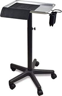 Premium Aluminum Instrument Salon Tray W/Accessory Caddy Tattoo Rolling Tray Station