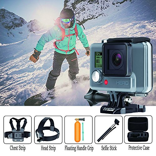 Navitech 18 in 1 Action Camera Accessories Combo Kit with EVA Case Compatible with The Pictek Underwater Camera, Sports Camera, Waterproof WiFi 2.0 Inch HD 1080P