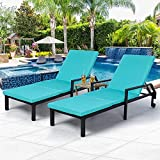 AECOJOY Chaise Lounge Chairs for Outside Outdoor Lounge Chairs Set of...