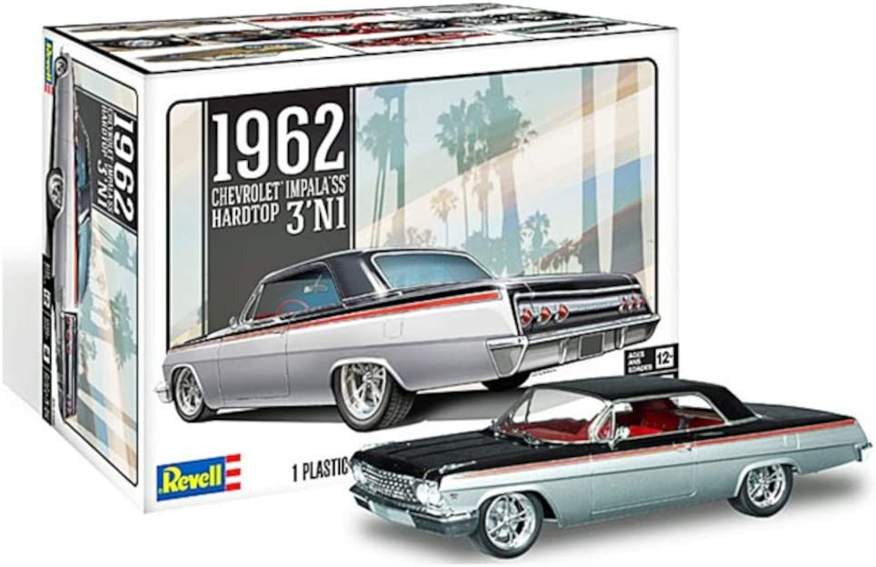 Revell 85-4466 1962 Be super welcome Chevrolet Impala SS Model 25 Kit 1 sale Scale Car